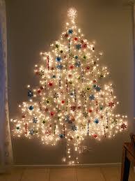 miniature christmas tree lights best 25 wall christmas tree ideas on pinterest alternative