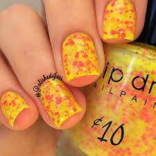 polished jess drip drop nail paint and candied apple polish