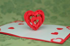 3d heart pop up card template creative pop up cards