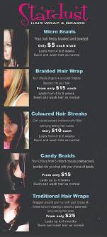 hairstyle price list price list stardust hair wraps
