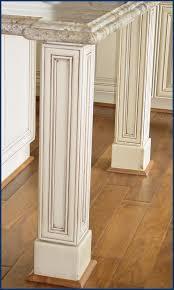 Kitchen Island Legs Unfinished Wood Legs For Kitchen Cabinets Kitchen