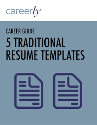 5 traditional resume templates u2014 careerly