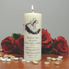memorial candle blessed are those who mourn personalized memorial candle