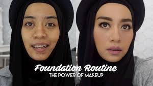 tutorial makeup natural hijab pesta foundation routine tutorial makeup natural untuk acara santai