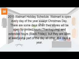 what holidays does walmart for