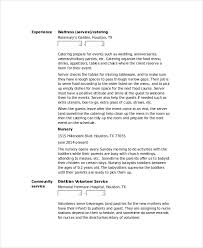 Additional Information On Resume Waitress On Resume Coinfetti Co