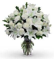 white bouquet classic sympathy bouquet avas flowers
