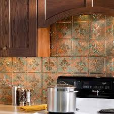 Kitchen Tile Backsplash Murals Kitchen Fasade Backsplash Waves In Cracked Copper Kitchen Murals