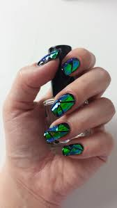 creative nail design creative nail design shattered glass nails