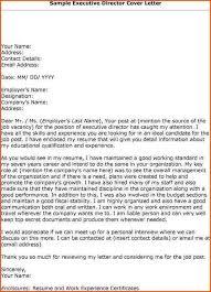 executive director cover letter best director cover letter