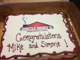 1 year anniversary cake picture of uncle mike u0027s smokehouse grill