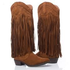 s qupid boots 47 qupid boots nib qupid cowboy fringe boot size