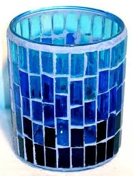 blue tea light candles blue mosaic votive candle holder welcome to the magick wicca