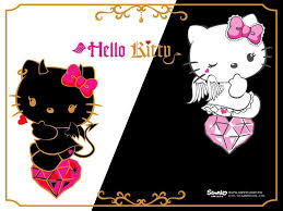 black pink kitty wallpapers wallpaper cave