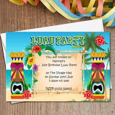 luau invitations 10 personalised luau hawaii party invitations n165