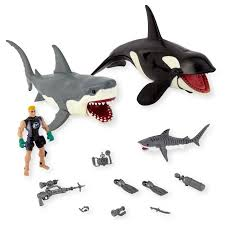 animal planet shark whale playset toys