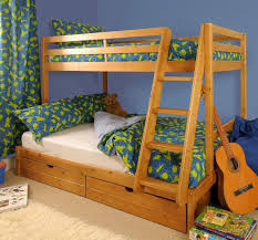 Triple Bunk Bed Ft  Ft Wooden Pine With Storage  Mattress - Triple bunk beds with mattress