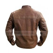 leather riding jackets cafe racer brown leather jacket mens vintage biker jacket