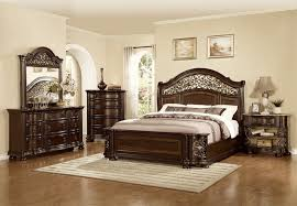 Iron Bed Set Mc Ferran B366 5 Pc Allison Collection Wood Finish And Real