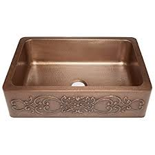 Adams Farmhouse Apron Front Handmade Copper Kitchen Sink  In - Copper sink kitchen