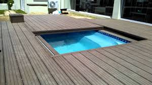 Automatic Patio Cover Decks4life Composite Deck With Motorized Pool Sliding Cover Youtube