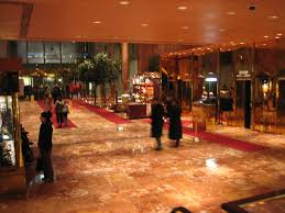 Trump Tower Ny The Exquisite Interior Of The Lobby Of Trump Tower New York