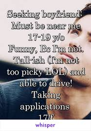 Seeking Near Me Boyfriend Must Be Near Me 17 19 Y O Bc I M Not Ish