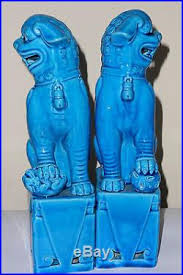 turquoise foo dogs for sale large turquoise blue foo dog figurines statues foo dogs