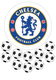 football cake toppers chelsea football club emblem cake topper and mix can be