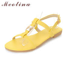 meotina shoes women sandals summer ankle strap beach flats ladies