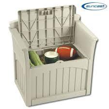 suncast patio storage resin patio storage seat suncast deck box