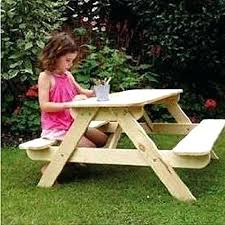 Furniture Farmhouse Outdoor Furniture Style With Lowes Picnic by Kids Table With Bench U2013 Amarillobrewing Co