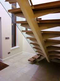 steel spine oak stairs with steel banisters staircases ajd