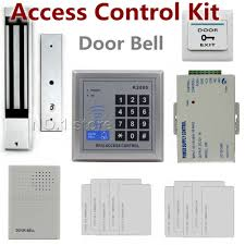diy full complete kit 125khz rfid id card reader door access control security system electric magnetic lock door bell k2000