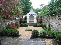 traditional landscape and yard with fence u0026 exterior stone floors