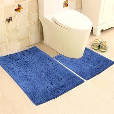 Non Slip Bathroom Flooring Ideas Colors Vdomus Microfiber Bathroom Contour Rugs Combo Set Of 2 Soft
