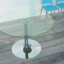 Glass Round Kitchen Table Italian Dining Table Kalix By Sedit Soft Design Extralight White Or Tr