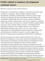 Business Resumes Samples by Top 8 Business Development Assistant Resume Samples