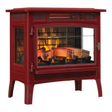 duraflame 3d cinnamon infrared electric fireplace stove with