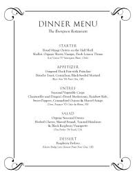 best dinner menu template pictures top resume revision worksheet