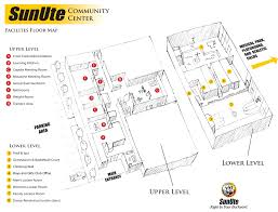 Community Center Floor Plans by Floor Map Sunute Community Center