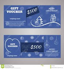 blue christmas and new year gift voucher certificate coupon stock