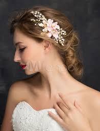 blumen haarschmuck hochzeit goldene hochzeit kopfschmuck blumen perlen strass zirkonia braut