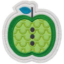 apple 1 ornament applique