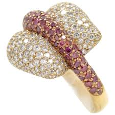 gold ring design ionescu design white and purple diamond gold ring for sale at 1stdibs