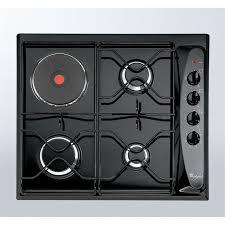 gaz electrique cuisine whirlpool akm261 noir table de cuisson mixte gaz électrique 4