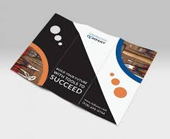 Business Card For Construction Company Tri Fold Brochure Template For Construction Company Stationary