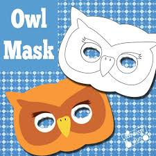owl mask owl mask and template to color itsy bitsy
