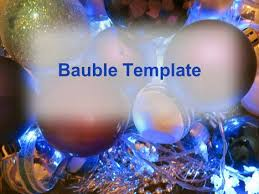 tree baubles template
