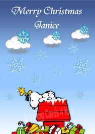 personalised snoopy card